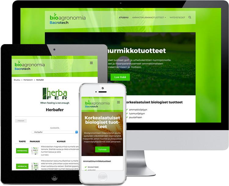 Nettisivujen ja logon suunnittelu ja toteutus